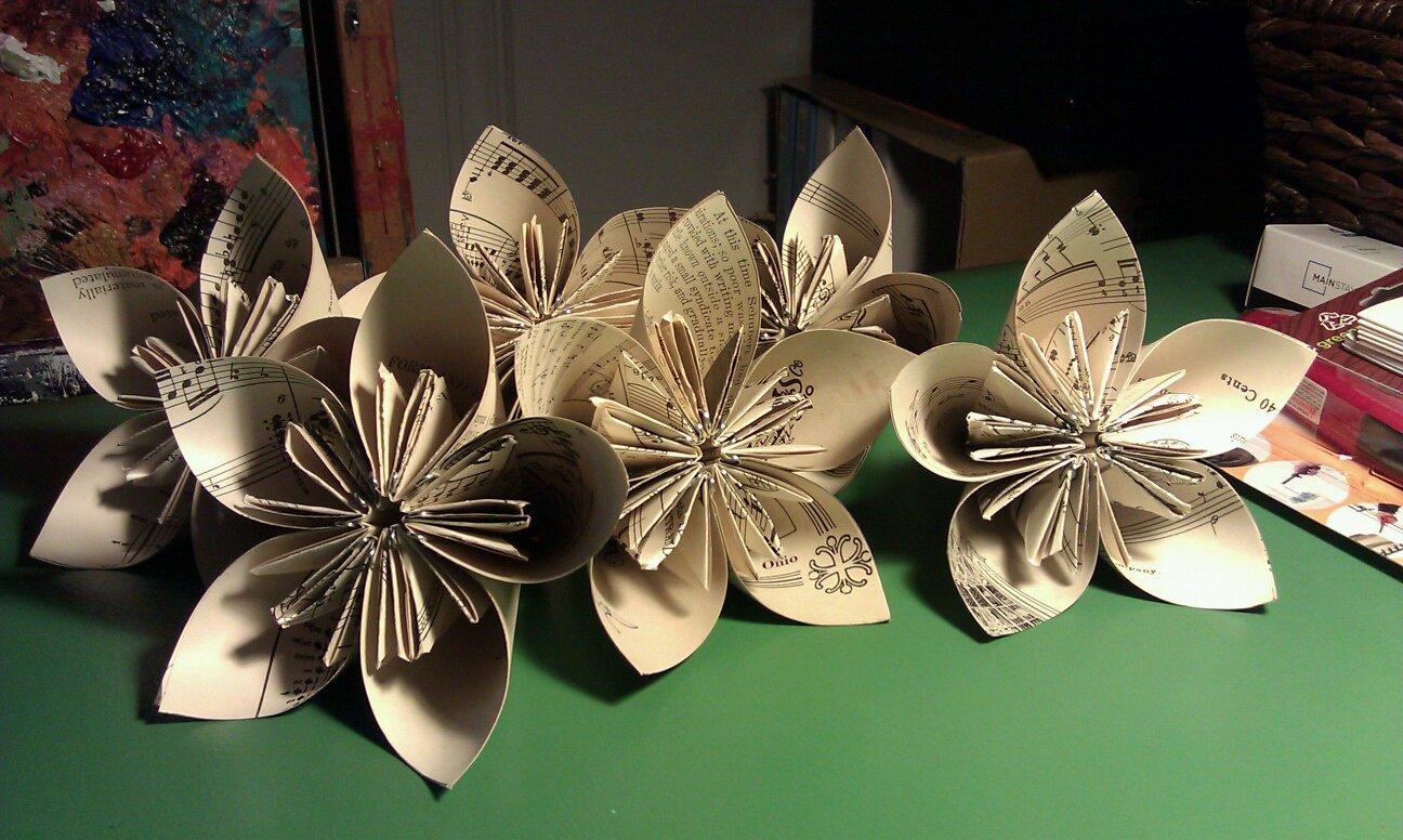 Music Sheet Paper Flowers